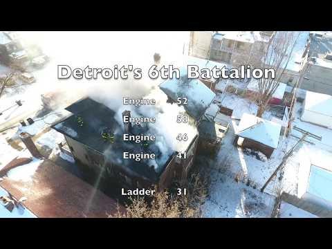 Detroit Fire Department (Drone View) Box alarm 2-1-17 Devonshire x Mack