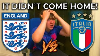The MOMENT ENGLAND Lost a PENALTY SHOOTOUT to ITALY in the EURO 2020 FINAL! - ENGLAND VS ITALY!