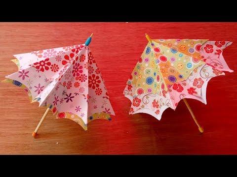 Origami Umbrella - How to make paper umbrella