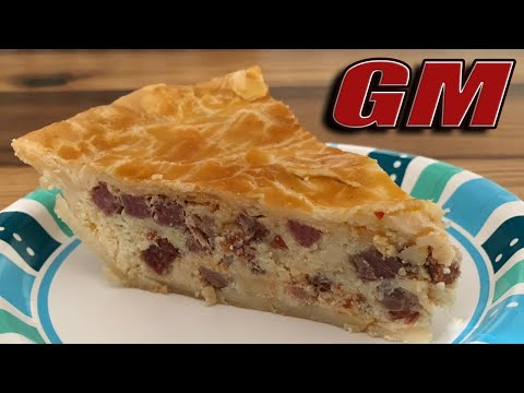 Pizzagaina / Pizza Rustica - Italian Easter Meat & Cheese Pie - Baked in a Dutch Oven