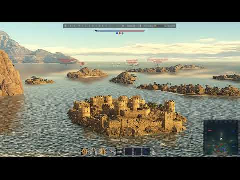 The New Africa map ( WAR THUNDER NAVAL FORCES )