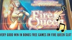 FIRE QUEEN SLOT GAME - VERY GOOD WIN IN BONUS FREE GAMES - SunFlower Slots