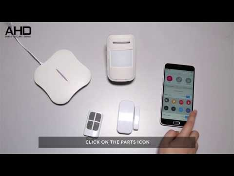 Smart Wireless W1 Alarm Setting With Phone Application