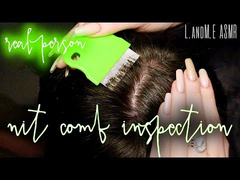 ASMR 💆    REAL PERSON scalp & hair inspection with lice nit comb    20MINS    no talking 🤐   