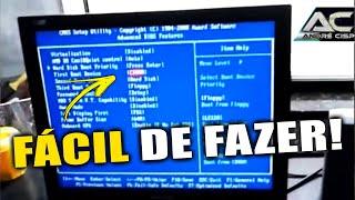 Como configurar o boot placa mãe gigabyte