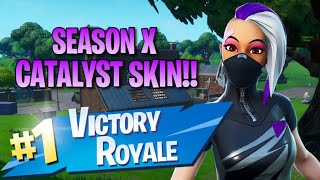 "Season 10 ""Catalyst"" Skin!! 13 Elims!! - Fortnite: Battle Royale Gameplay"