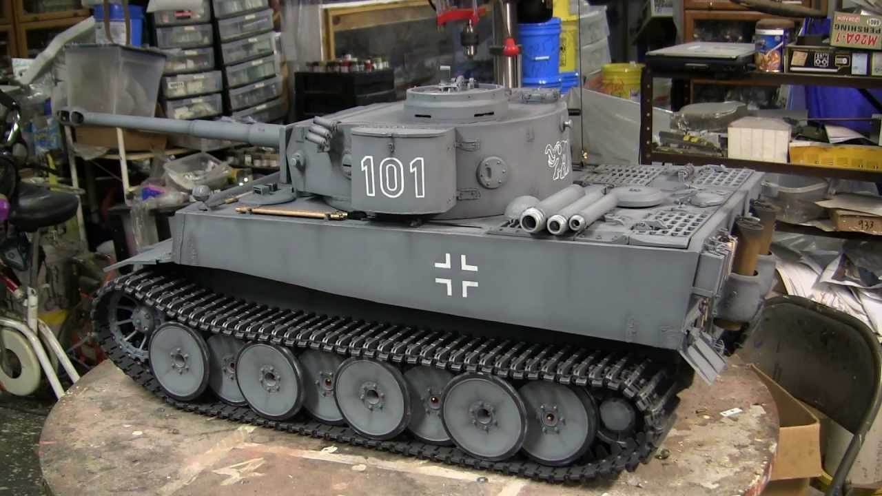 1 6th Scale Scratch Built German Tiger I Tank Project