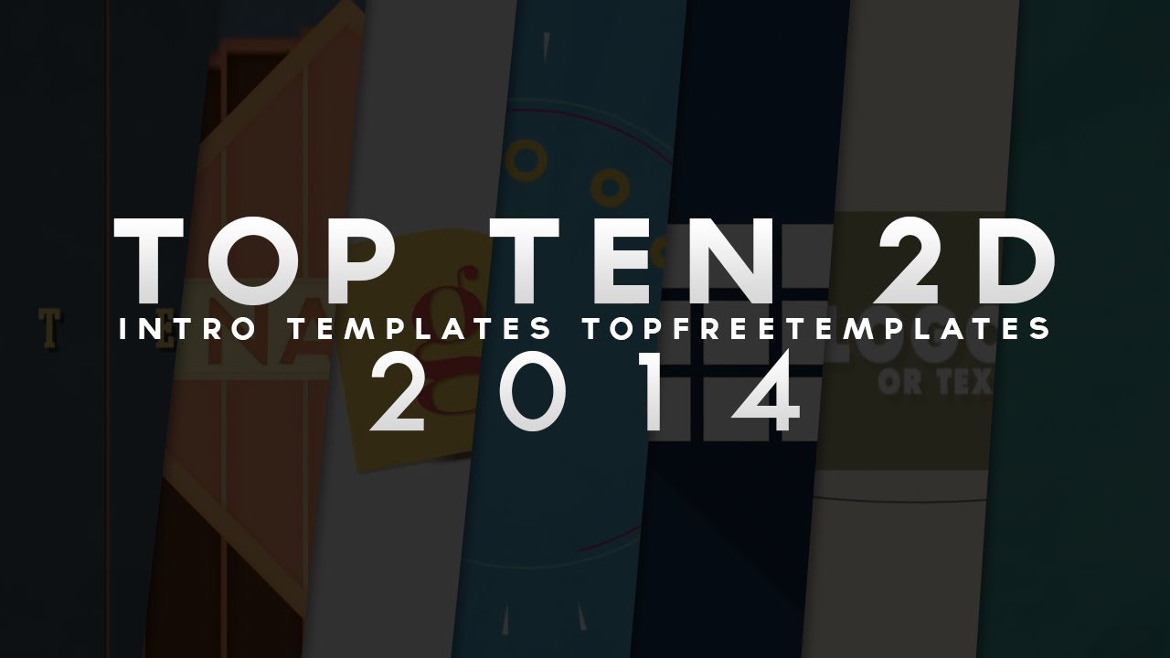 Best Top 10 Free 2d Intro Templates Sony Vegas After Effects