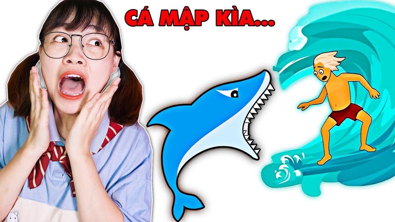 Hà Sam Giúp Đỡ Anh Thanh Niên Thoát Khỏi Cá Mập Hung Dữ Ngoài Biển –  Draw One Part