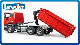 Bruder Toys SCANIA-R-Series Tipping container truck #03522