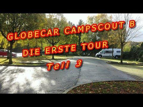 GLOBECAR CAMPSCOUT B, STREET CAMPING, GOETHETURM, FRANKFURT MARATHON, MAINKAI, ENTSORGUNG - TEIL 3
