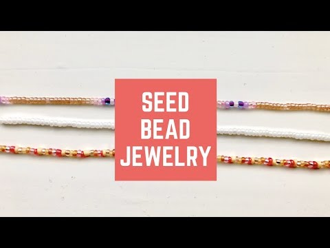 HOW TO MAKE DIY SUPER CUTE POPULAR SEED BEADED SINGLE CHAIN NECKLACE/CHOKER VINTAGE BEADED 2018