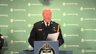 Toronto Police Chief Bill Blair addresses the media after Sammy Yatim, 18, was shot on a TTC streetcar.