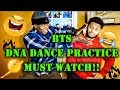 BTS - DNA DANCE PRACTICE REACTION - (MICK AND DRE) (FUNNY!) (MUST WATCH!)