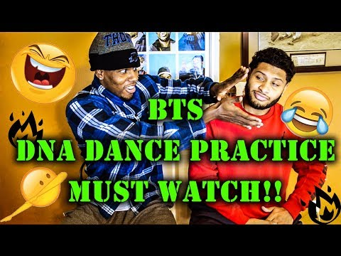 BTS - DNA DANCE PRACTICE REACTION - MICK AND DRE FUNNY MUST WATCH