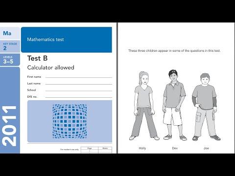 2011 Maths B calc QCA SATS KS2 full MODEL ANSWERS