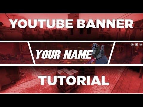 DIY: Make a SICK FREE YouTube Banner! No Photoshop! (Gimp) 2017