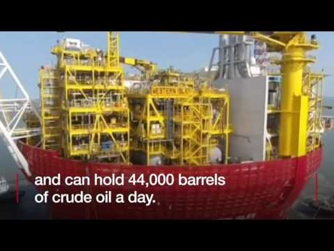 How do you move an oil platform from China to the UK?