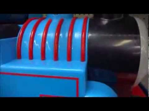Battery Operated Ride On Toys >> Thomas and Friends Power Wheels Thomas the Train On Track 6 Volt Battery Powered Ride On - YouTube