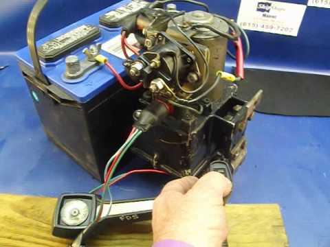 Testing 4 Line Mercury Power Trim Pump and Motor 4-17-14