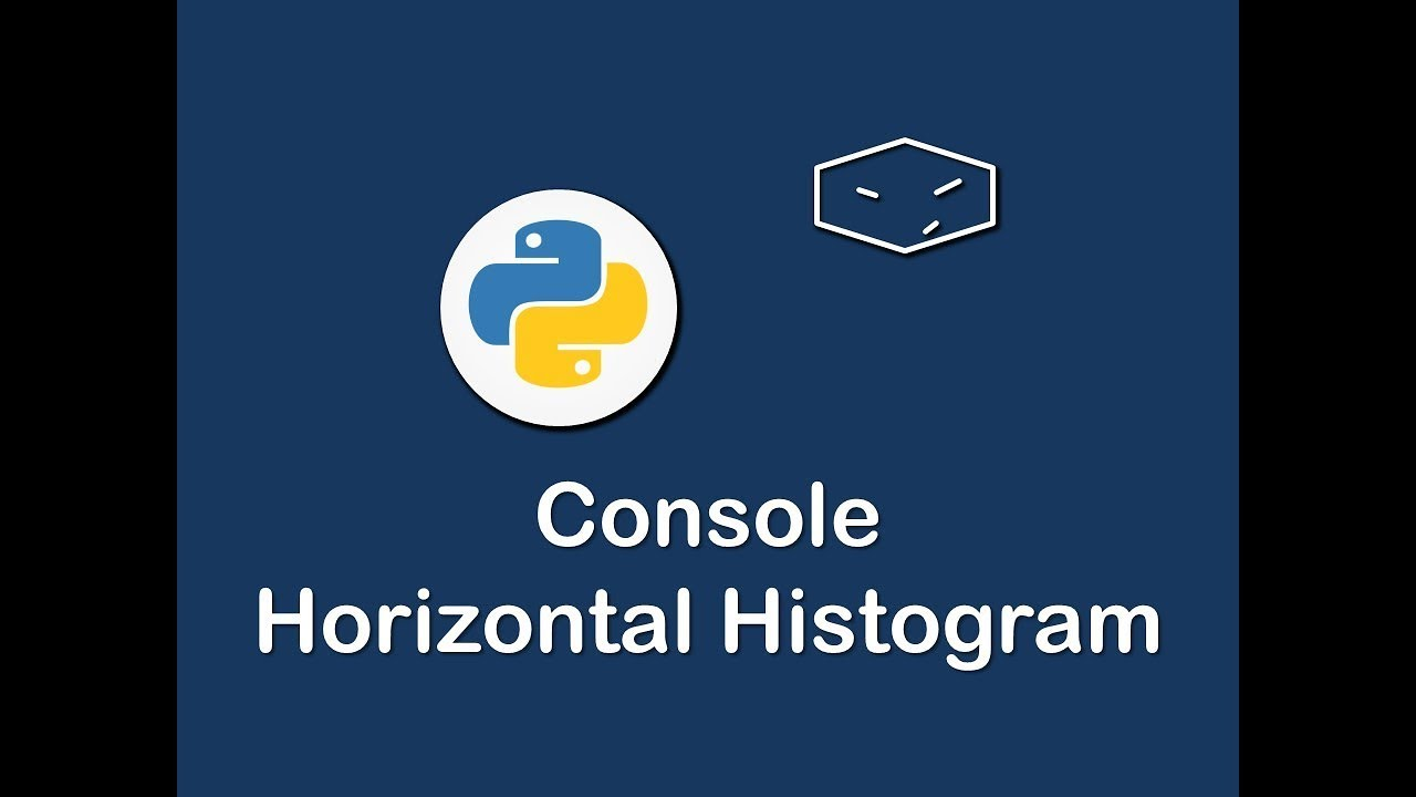 console horizontal histogram in python