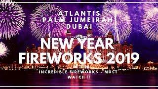 Dubai New Year 2019 Fireworks Atlantis The Palm Jumeirah Full HD
