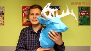 DIY- głowa jelenia z papieru / DIY- paper deer head