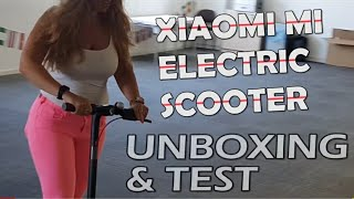 MI ELECTRIC SCOOTER XIAOMI UNBOXED! (4K)