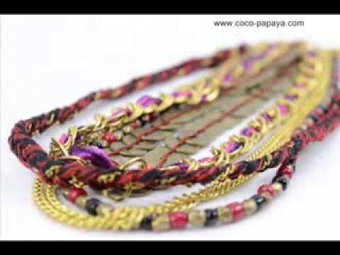 Bijoux Fantaisie Tendance pas chers, Bijoux ethniques, Collection Hiver 2013-2014 Coco Papaya