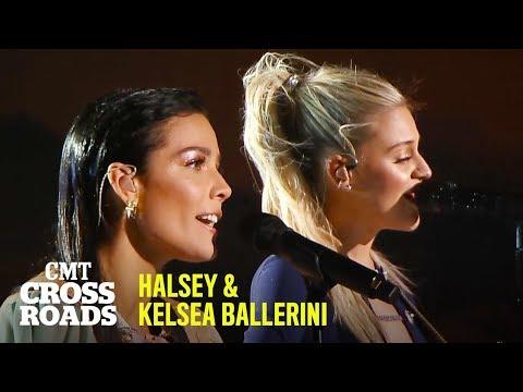 Halsey & Kelsea Ballerini Perform 'Homecoming Queen'   CMT Crossroads