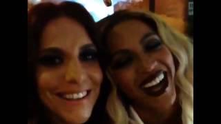 Rock in Rio 2013 ~ Ivete e Beyonce logo após Rock in Rio 2013