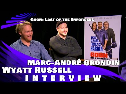GOON: LAST OF THE ENFORCERS - WYATT RUSSELL AND MARC-ANDRE GRONDIN INTERVIEW