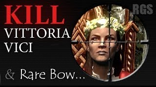 Skyrim Walkthrough: Rare Bow (Firiniel's End) and escaping Kill Vittoria Vici [HD] Ultra Settings