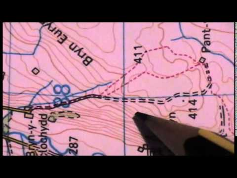 Contour Line Drawing Map : Os map contour lines youtube