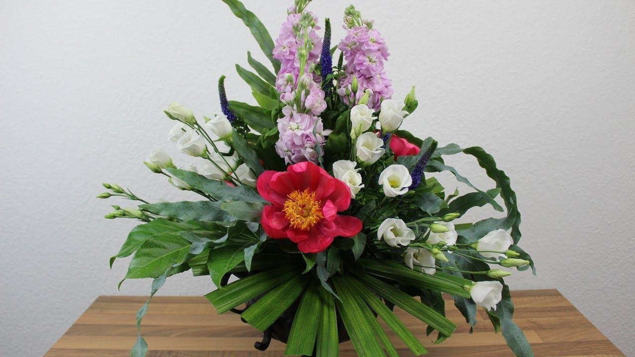 Floristik Anleitung Blumengesteck Mit Steckschaum Deko Ideen