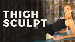 Yoga Sculpt Challenge 1/6: Thigh Workout For Women | Sculpting Exercise For Your Thighs