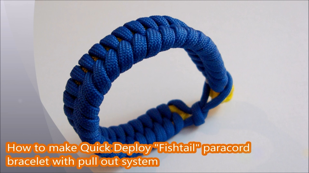 how to make a fishtail paracord bracelet without buckle