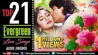 top 21 evergreen love songs 90s romantic love songs jukebox evergreen bollywood hindi songs