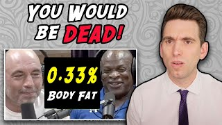 0.33% Body Fat!? Doctor Reacts to Ronnie Coleman Joe Rogan Experience Interview!
