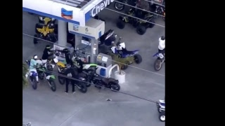 Police Chasing Large Group of Motorcycles, ATVs in Miami
