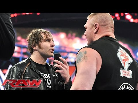 Dean Ambrose wants Brock Lesnar to take him to Suplex City: Raw, February 1, 2016