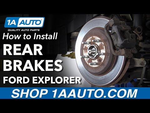 How to Install Rear Brakes 11-17 Ford Explorer