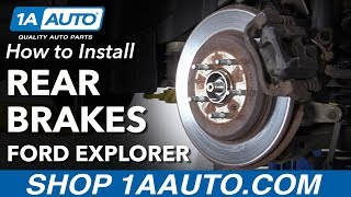 How to Install Rear Brakes 2011-17 Ford Explorer