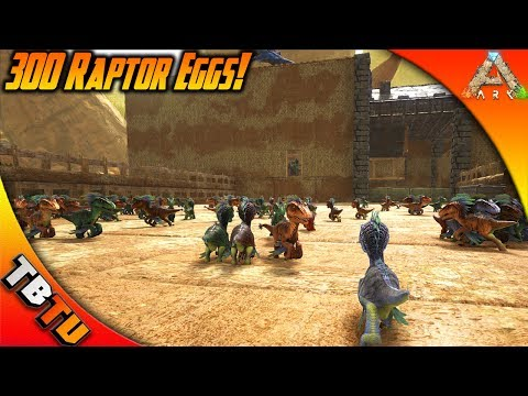 THE HATCHENING 2! MASS RAPTOR BREEDING AND MUTATIONS! Ark Survival Breeding - Gaming Evolved