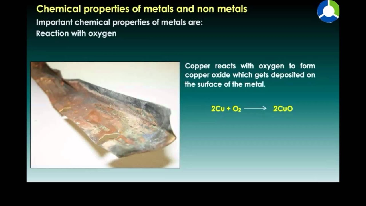 Chemical Properties Of Metals And Non Metals