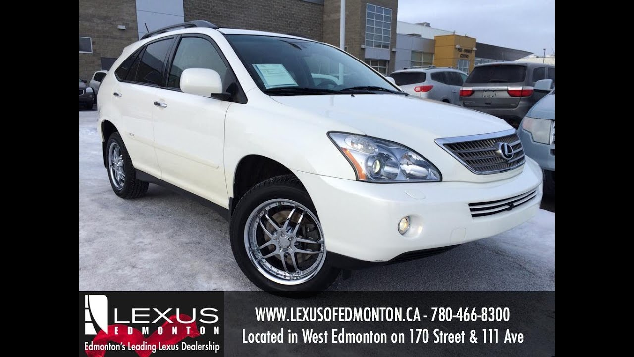 used white 2008 lexus rx 400h 4wd hybrid review sylvan lake alberta youtube. Black Bedroom Furniture Sets. Home Design Ideas