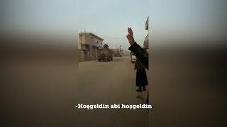 TSK konvoyu Suriye'de böyle karşılandı