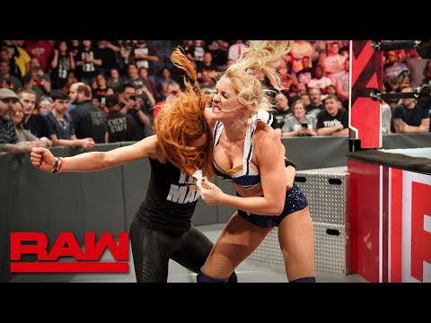 Lacey Evans sparks a brawl with Becky Lynch: Raw, April 29, 2019