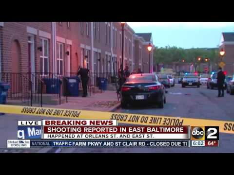 Man shot in east Baltimore at Orleans Street