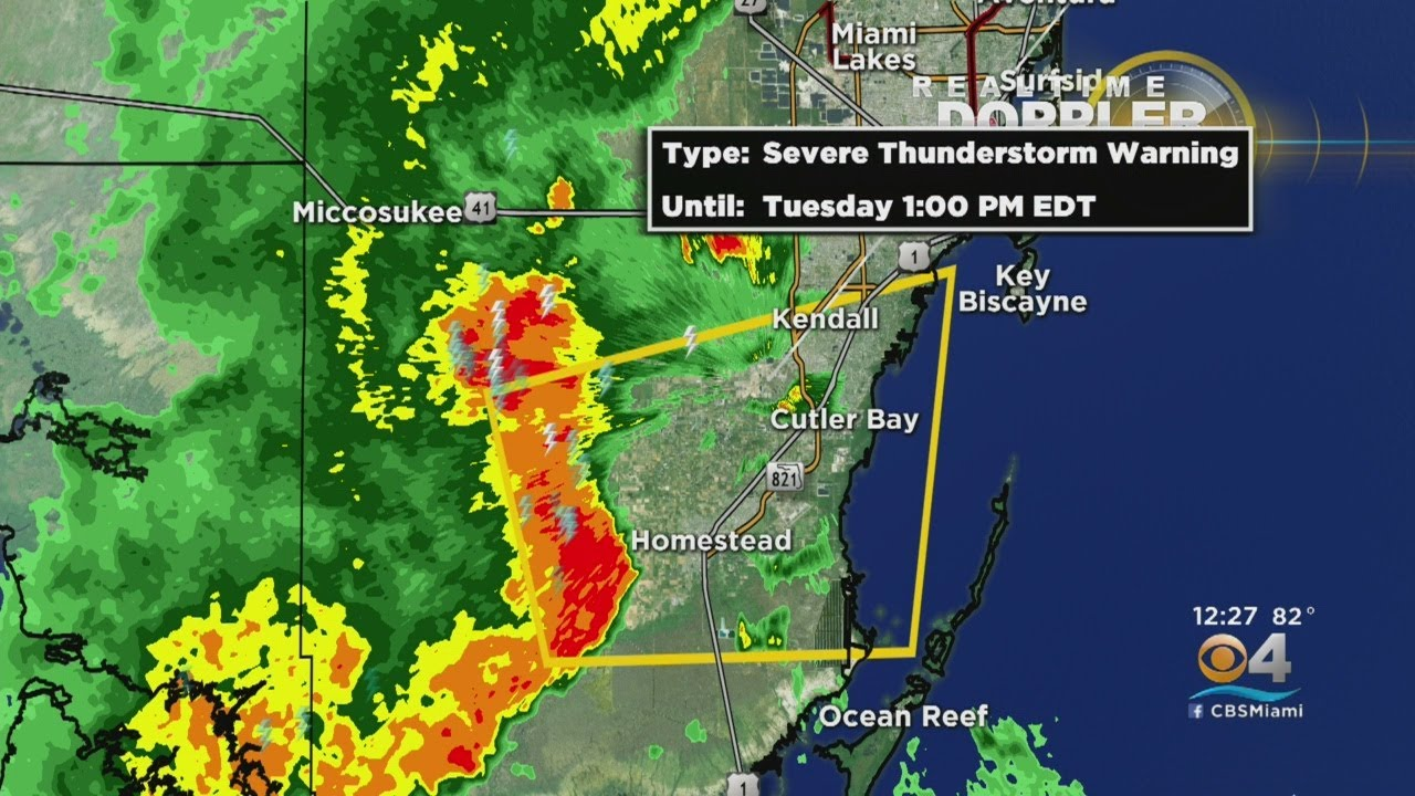 Severe Thunderstorm Warnings issued south of city following ...